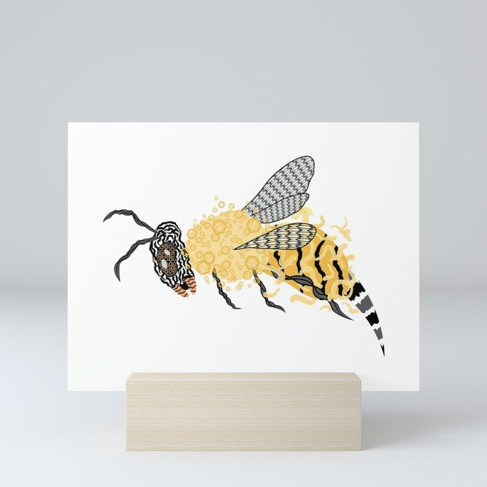 Abstract Bee Mini Art Print