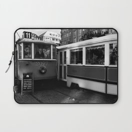 Cafe in the tram in the historical part of Prague. Laptop Sleeve