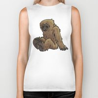 bigfoot Biker Tanks featuring Bigfoot by Savannah Horrocks