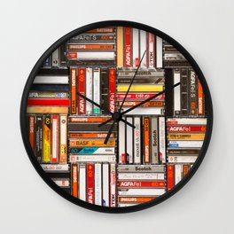 Something Nostalgic - III - Colored Version #decor #society6 #buyart Wall Clock