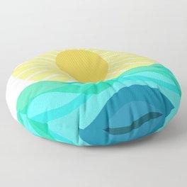 Rise And Shine Sunshine Floor Pillow