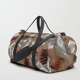 Liquid Metal Texture Duffle Bag