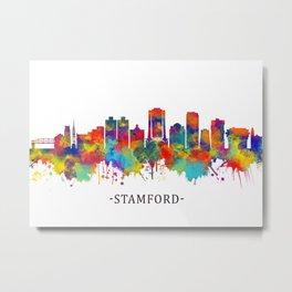 Stamford Connecticut Skyline Metal Print