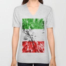 Extruded Flag of Italy Unisex V-Neck