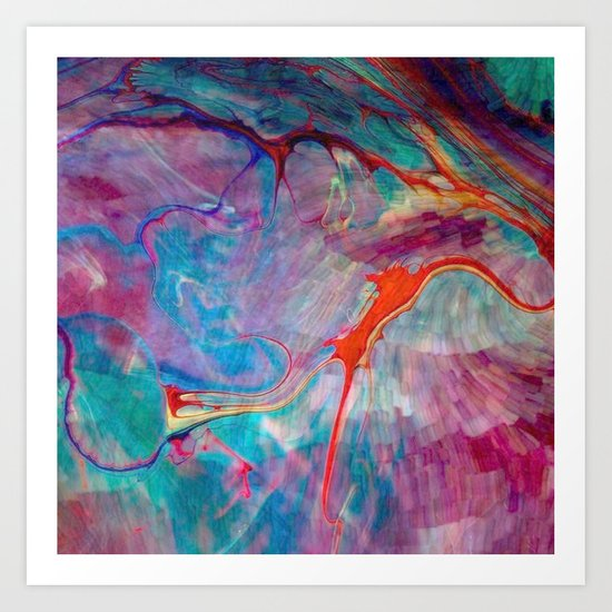 abstract chaos Art Print