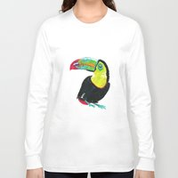 toucan Long Sleeve T-shirts featuring Toucan by Félin & Flora