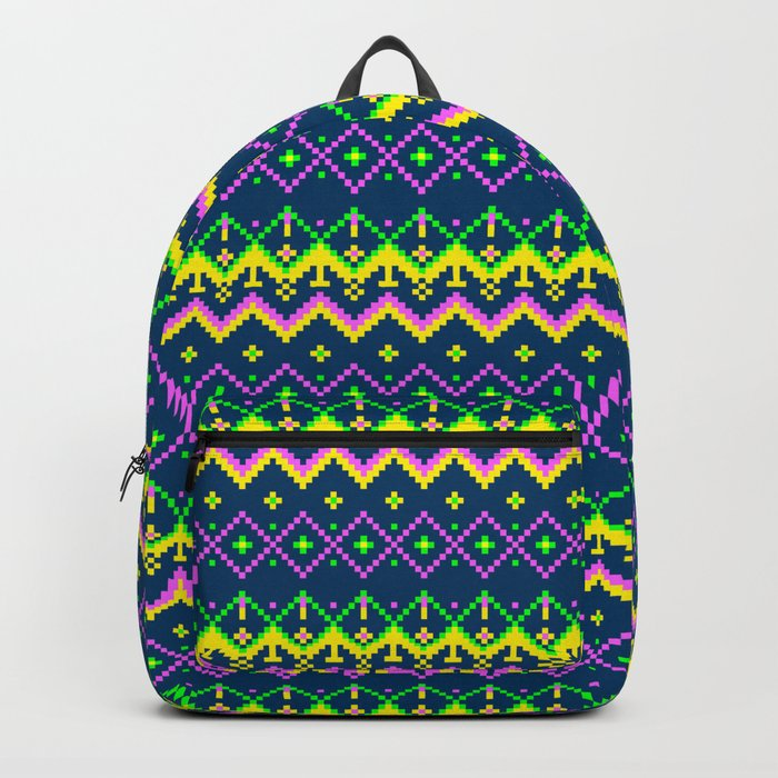 Pixel modern geometric seamless pattern ornament Backpack