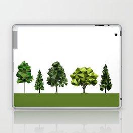 Poly geometric trees Laptop & iPad Skin