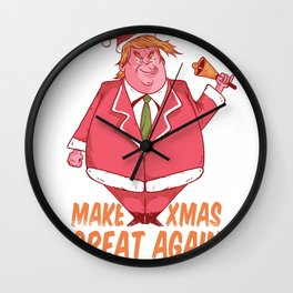 Make Christmas Great Again Santa Trump Wall Clock