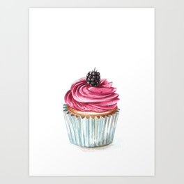 Blueberry cupcake  Art Print