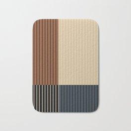 Color Block Line Abstract I Bath Mat