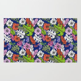 Bright tropical flowers- pattern no 1 Rug