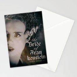 The Bride of Frankenstein, vintage movie poster, Boris Karloff cult horror Stationery Cards
