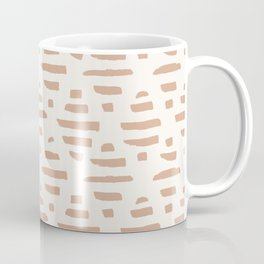 Modern Painted Abstract Triangle Lines in Terracotta Coffee Mug