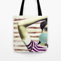 bubble Tote Bags featuring Bubble by Mi Nu Ra