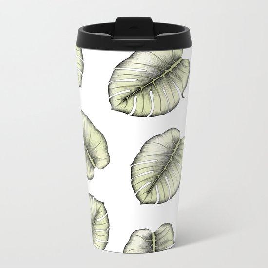 Greenery Metal Travel Mug
