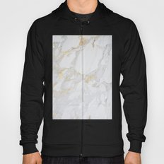 Marble with Gold Hoody