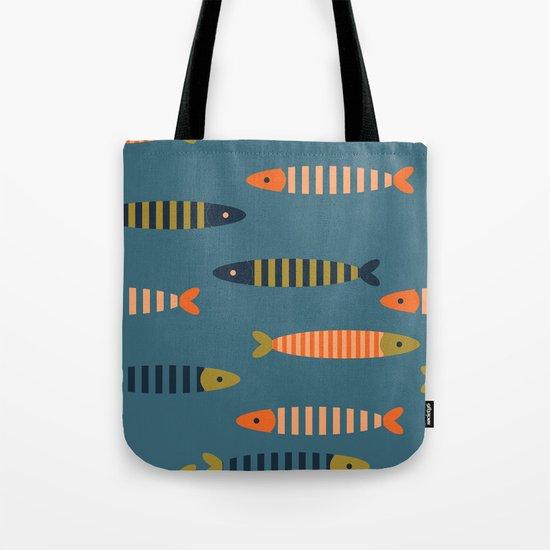 Striped fish pattern Tote Bag