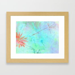 Paint A Dandelion Framed Art Print