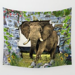 African Elephant Wall Tapestry