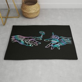 the Creation of Cannabis- holographic Rug