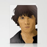 sam winchester Stationery Cards featuring Sam Winchester by siddick49