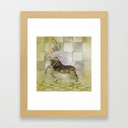 Wonderful fantasy horse with skulls Framed Art Print