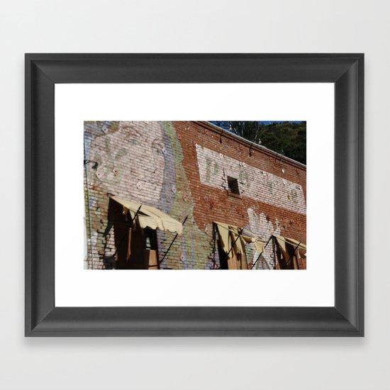 Paint Brick Face Framed Art Print