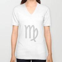 virgo V-neck T-shirts featuring Virgo by David Zydd