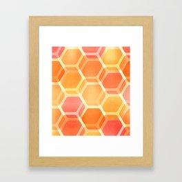 Pastel Hexa Framed Art Print