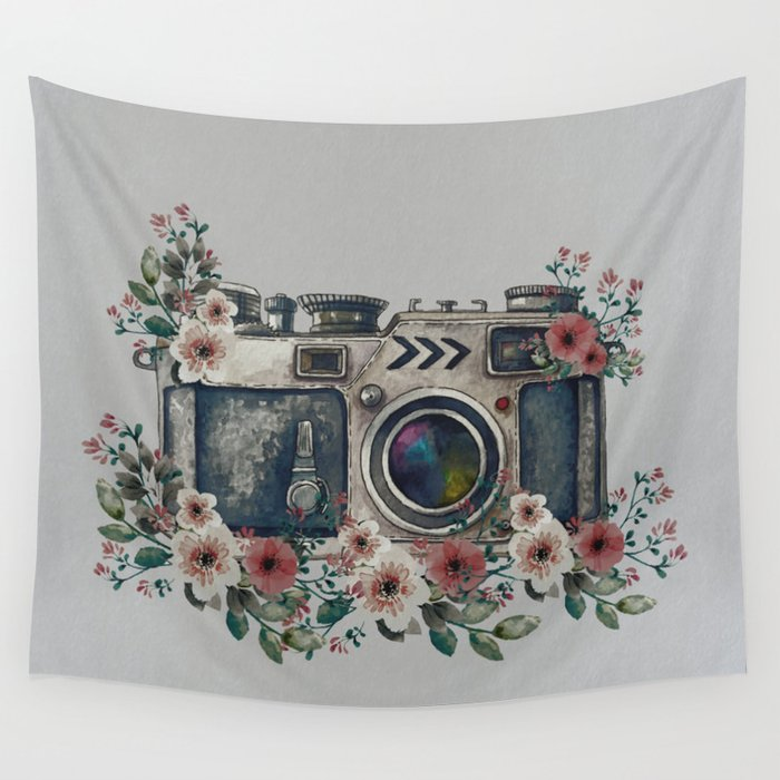 Camera with Summer Flowers