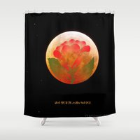 i love you to the moon and back Shower Curtains featuring I Love You to the Moon and Back  by Vermont Greetings