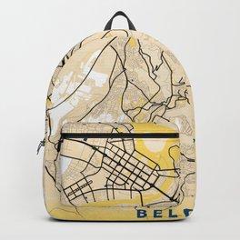 Belgrade Yellow City Map Backpack