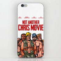 chris evans iPhone & iPod Skins featuring Not Another Chris Movie by Randy Meeks