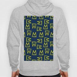 Abstract geometrical neon yellow navy blue tribal Hoody