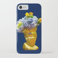 golden girls iPhone & iPod Cases featuring 'Golden Girls' Floral Headvase by The Horticult