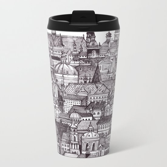 Prague Metal Travel Mug