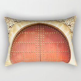 Red Morccan Door Rectangular Pillow