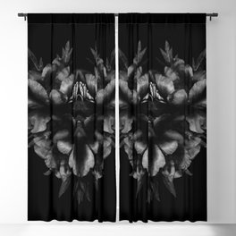 Peony Love with Conte Crayon Texture Blackout Curtain