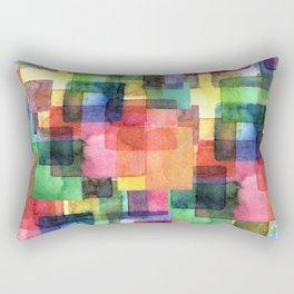 Watercolor blots plaid :) Rectangular Pillow
