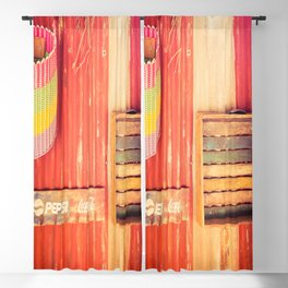 Items On A Corrugated Iron Wall Blackout Curtain