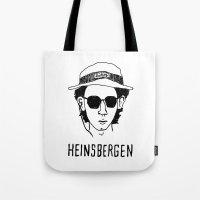 royal tenenbaums Tote Bags featuring Heinsbergen (Royal Tenenbaums/Breaking Bad) by Tabner's