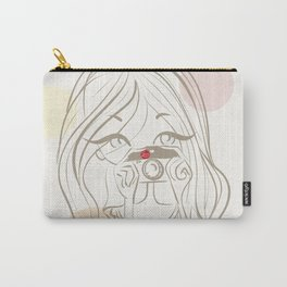I love photography - Female photographer - Retro Carry-All Pouch