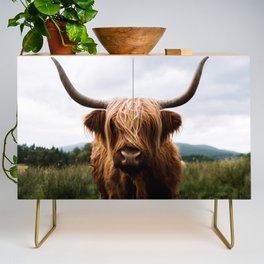 Scottish Highland Cattle in Scotland Portrait II Credenza