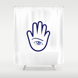 Hand of a fortune teller Shower Curtain