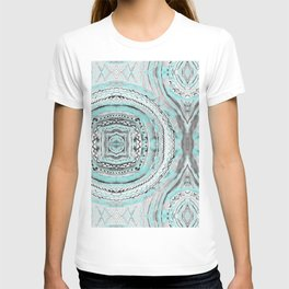 Teal & Blue Complexities - a Watercolor Tribal Pattern T-shirt