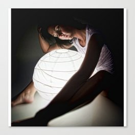 Model C with light Canvas Print