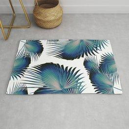 Fan Palm Leaves Paradise #1 #tropical #decor #art #society6 Rug