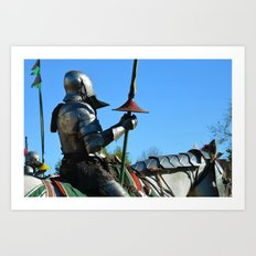 Jousting Horse - The Riders Art Print