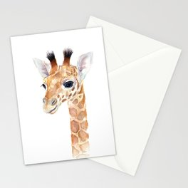 Baby Giraffe Cute Animal Watercolor Stationery Cards